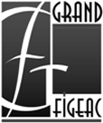 Logotype Grand-Figeac n&b